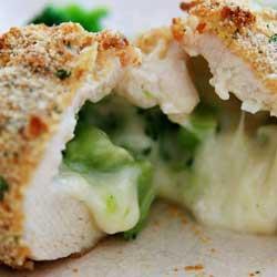 chicken with broccoli and cheese